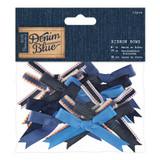 Mixed Large Ribbon Bows | Denim Blue | 12pcs | Papermania