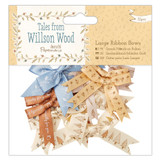 Tales from Willson Wood, Large Ribbon Bows | 12pcs | Papermania