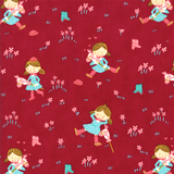 Howdy Fabric Collection | Stacy Iest Hsu | Moda Fabrics | Cowgirls on Raspberry