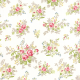 Windermere | Brenda Riddle | Moda Fabrics | Individual Fabrics | 18610-11 Flower Arrangement on White