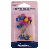 Flower Headed Pins | 0.58 x 54mm | Approx 36pcs | Hemline