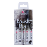 Ecoline | Watercolour Brush Pens | Greys | Pack of 5 - Main Image
