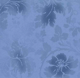 Puzzle Pieces | Moda Fabrics | 1005-20 Blue Flowers and Leaves