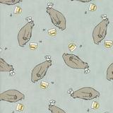 Darling Little Dickens   Linda Nelson   Moda Fabrics   016 Bears Blue