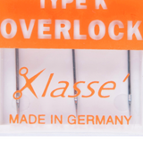 Klasse | Machine Needles | Overlock Pack | Various Sizes
