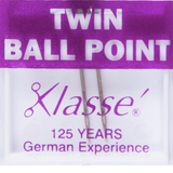 Klasse | Machine Needles | Twin Ball Point Pack | Various Sizes