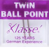 Klasse   Machine Needles   Twin Ball Point Pack   Various Sizes