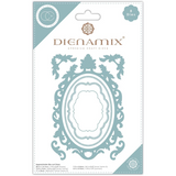 Dienamix | Craft Consortium | A5 Ornate Oval Frame Cutting Die