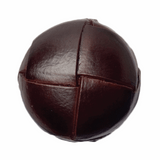 Leather Look Buttons | 23 mm | Rich Brown