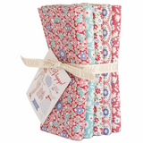 Bon Voyage | Tilda | Fat Quarter Bundle | 5 Fat Quarters | Small Red