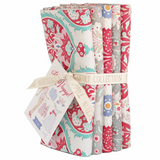 Bon Voyage | Tilda | Fat Quarter Bundle | 5 Fat Quarters | Red