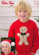 Gingerbread Sweater and Santa Hat DK Pattern | Peter Pan DK 1173