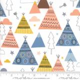 Wild & Free | Abi Hall | Moda Fabrics | 35312-11 | TeePee White Background