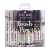 Ecoline | Watercolour Brush Pen Set | Greys | Pack of 10 - Main Image