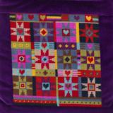 "Alhambra Stars Tapestry Kit | 7""x 7.5"" (18 cm x 19 cm) | Jolly Red"