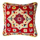 "Peacock Star Tapestry Kit | 14""x14"" (36 cm x 36 cm) | Jolly Red (PKS751)"