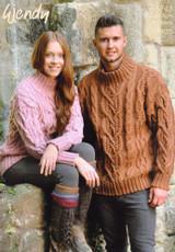 Cabled Sweater Wendy Aran Knitting Pattern   5743 - Main Image