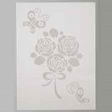 A4 Painting Stencils | Creative Emotions, Efco | Roses with Butterflies