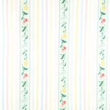 Bunnies n' Cream by Lauren Nash | Stripey Flowers Mint