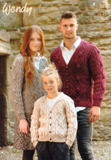 Cardigan for Children and Adults Aran Pattern | Wendy Aran 5740