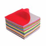Acrylic Felt | 15cm x 15cm Squares | 42 Pieces | Mixed Colours