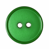 Flat Top Narrow Rim Button | 18mm | 2 Hole | Emerald