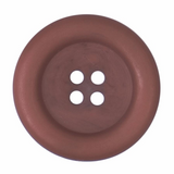 Polyester Broad Rimmed Button | 29mm | 4 Hole | Brown