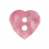 Heart Button | 12mm | 2 Hole | Light Pink