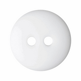 Matt Smartie Button   15mm   2 Hole   White