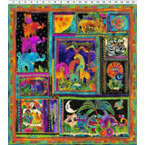 Mythical Jungle Fabric Collection   Laurel Burch   Jungle Animals Panels