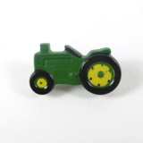 Tractor Buttons - Green | Dill | 25mm