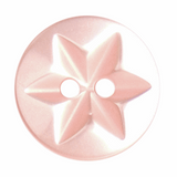 Round Star Buttons | 15 mm | Peach Pink (A0031)