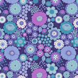 Flower Child | Lewis and Irene | A435.3 Far Out Floral Blues