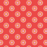 Flower Child | Lewis and Irene | A437.3 Funky Daisy on Red