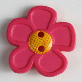 Pretty Daisy Buttons - 20 mm | Bright Pink | Dill