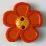 Pretty Daisy Buttons - 20 mm | Orange | Dill