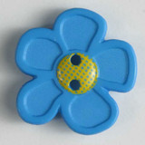 Pretty Daisy Buttons - 20 mm | Bright Blue | Dill