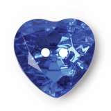 Jewel Heart Button | 20 mm | Blue (BF\8406)