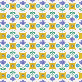 Flower Child | Lewis and Irene | A438.1 Fab Floral Circles on Yellow