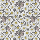 Jersey | Lewis and Irene | J006 | Little Mouse and Daisies Charcoal