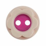 Mounted Flower Buttons | 12 mm | Pink & Cream (A2791)