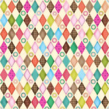 Friendly Forest 2014 Fabric Collection & Panel | SPX Fabrics | Multi Diamonds