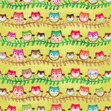Friendly Forest 2014 Fabric Collection & Panel | SPX Fabrics | Owls on Branches