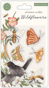 At Home in the Wildflowers | Katie Putt | Craft Consortium | Stamp Set | Bees and Butterflies - Main Image
