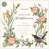 "At Home in the Wildflowers | Katie Putt | Craft Consortium | Premium paper pad | 12""x12"""