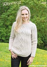 Diamond Sweater Aran Pattern | Twilleys Alfresco Aran 9208