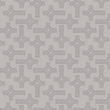 Iona | Lewis and Irene | A481.1 | Celtic Crosses Grey (Silver Metallic)