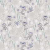 Iona | Lewis and Irene | A482.1 | Thistles Light Grey (Silver Metallic)