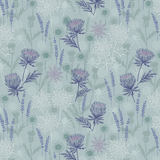 Iona | Lewis and Irene | A482.2 | Thistles Light Blue (Silver Metallic)