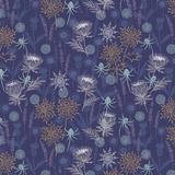 Iona | Lewis and Irene | A482.3 | Thistles Dark Blue (Copper Metallic)